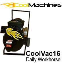 16 Horsepower, 20″ diameter blade vacuum. Briggs & Stratton Vanguard title=CoolVac 16