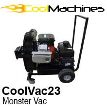 23 Horsepower, 20″ diameter blade vacuum title=CoolVac 23