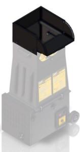 CM700 hopper extension for plastic hopper