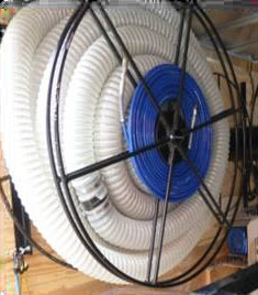 Dual Hose option to carry air or water line hose